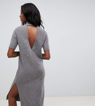 Asos Tall DESIGN Tall super soft midi t-shirt dress with open back