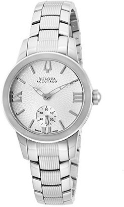 Accutron by Bulova Women 'sシルバートーンスチールシルバートーンTextured Dial