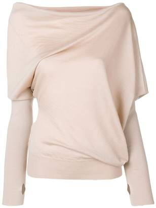 708f53fe83acf2 Tom Ford asymmetric knitted blouse