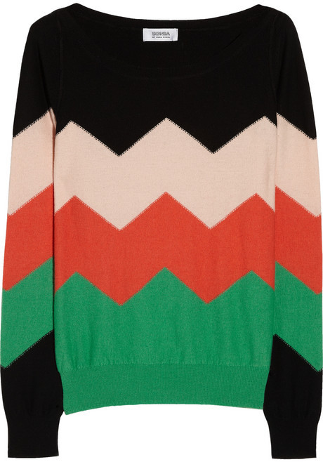 Sonia Rykiel Sonia by Cotton and cashmere-blend sweater