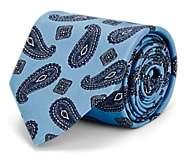 Brioni Men's Paisley Silk Faille Necktie - Lt. Blue