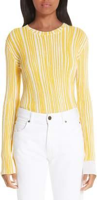 Calvin Klein Stripe Rib Knit Sweater