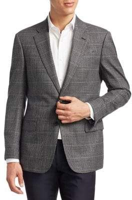 Armani Collezioni Slim-Fit Plaid Wool Sportcoat