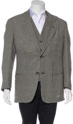 Giorgio Armani Houndstooth Blazer & Vest Set