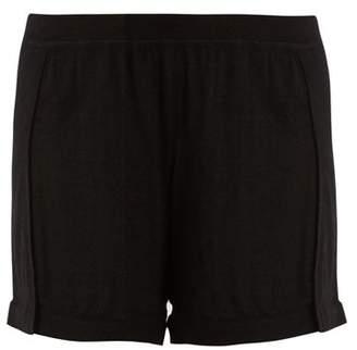Le Kasha - Bombay Mid Rise Cashmere Shorts - Womens - Black