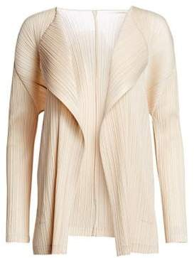 Pleats Please Issey Miyake Monthly Colors Open-Front Jacket