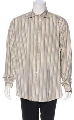 Burberry Striped Print Button-Up Shirt