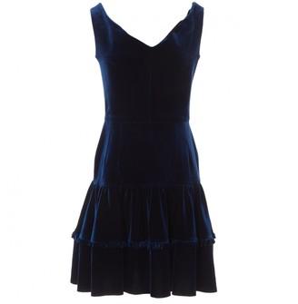 Emilio De La Morena Navy Velvet Dresses