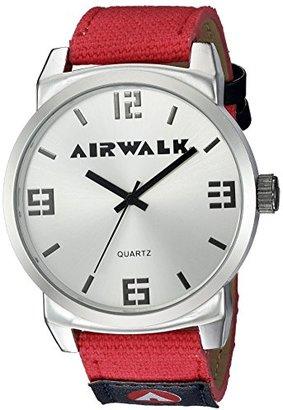 Airwalk Men 's Quartz Metal andシリコン時計自動,マルチカラー(モデル: aww-5085-re )