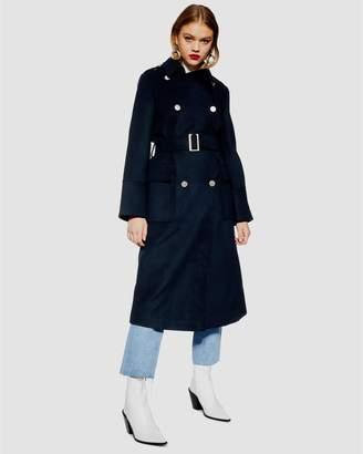 Topshop Heidi Military Coat