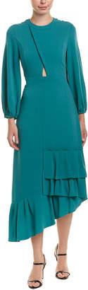 Tibi Savana Crepe Midi Dress