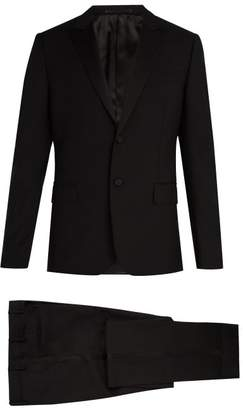 Valentino Satin Lapel Wool And Mohair Blend Tuxedo - Mens - Black