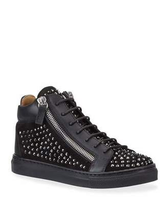 Giuseppe Zanotti Boy's Studded High-Top Sneakers, Toddler/Kids