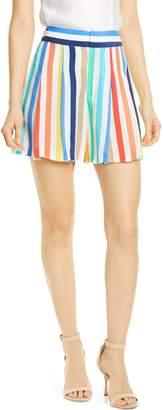 Alice + Olivia Scarlet Stripe Flutter Shorts