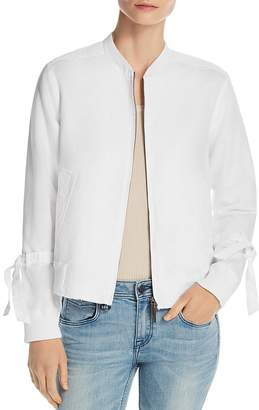 Kenneth Cole Lightweight Tie-Sleeve Bomber Jacket