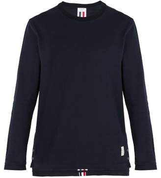 Thom Browne - Relaxed Fit Cotton Piqué T Shirt - Mens - Navy