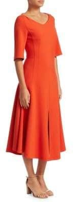 Akris Firecracker Fit-&-Flare Midi Dress