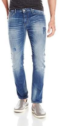 Armani Jeans Men's Slim Fit Patchwork