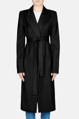 Lorod Long Wrap Coat - Black