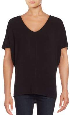 Lord & Taylor Plus Cold-Shoulder Top