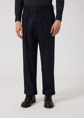 Emporio Armani Stretch Jersey Trousers With Removable Belt