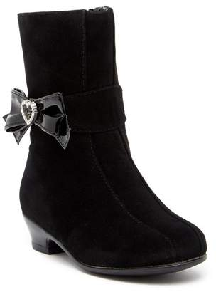 Rachel Lil Juliet Embellished Bow Accented Dress Boot (Toddler & Little Kid)
