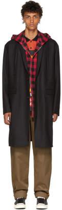 Juun.J Black Hooded Coat