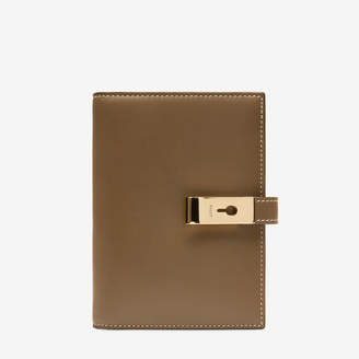 Bally April Brown, Women's plain calf leather wide wallet in caki