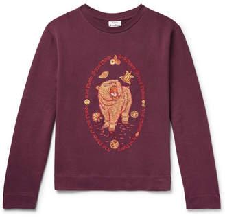 Acne Studios Oslavi E Bear Embroidered Loopback Cotton-Jersey Sweatshirt