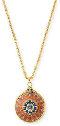 Jose & Maria Barrera Decoupage Pendant Necklace