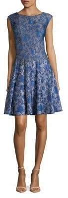Gabby Skye Printed Fit-and-Flare Dress
