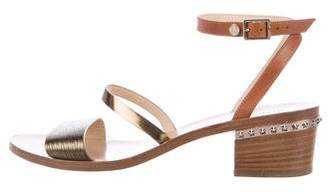Jimmy Choo Leather Wrap-Around Sandals