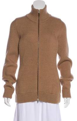 Maison Margiela Wool Rib Knit Cardigan
