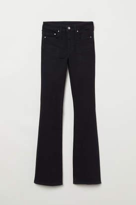H&M Mini Flare High Jeans - Black