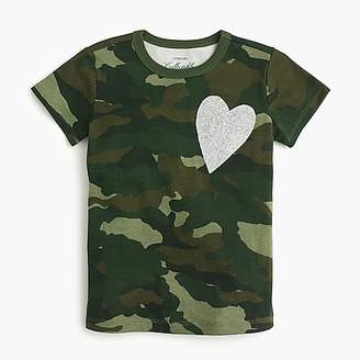J.Crew Girls' short-sleeve camo heart T-shirt