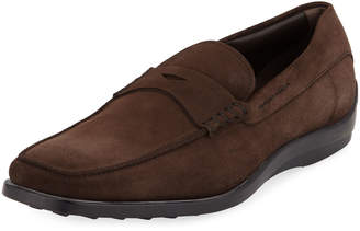 Tod's Casual Suede Slip-On Penny Loafer