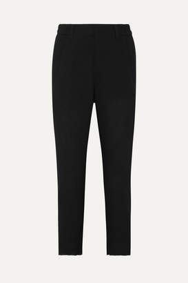 Ann Demeulemeester Cropped Twill Tapered Pants - Black