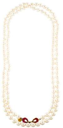 Chanel Gripoix and Faux Pearl Multistrand Necklace