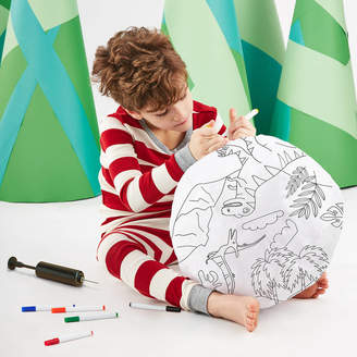 Marquis & Dawe Inflatable Dinosaur Colouring In Fabric Ball Kit