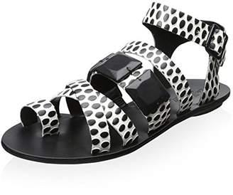 Loeffler Randall Women's Strappy Sandal with Toe Ring