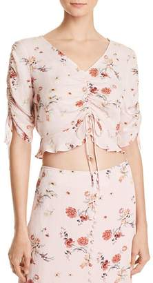 Lost and Wander Lost + Wander Rosa Ruched Drawstring Cropped Top