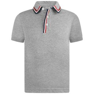 Moncler MonclerBoys Grey Jersey Polo Top
