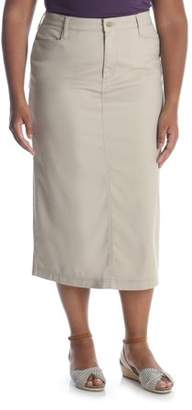 Lee Riders Women's Plus Long Stretch Twill Skirt