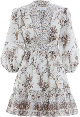 Zimmermann Tali Bib Front Short Dress