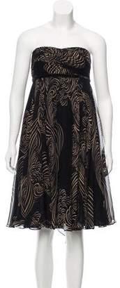 Marchesa Strapless Mini Dress