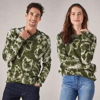 Naadam 100% Cashmere Tie Dye Sweater Olive