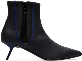 Ballin Alchimia Di black Perka 55 zip up leather ankle boots