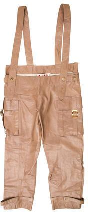 MarniMarni Cropped Leather Pants