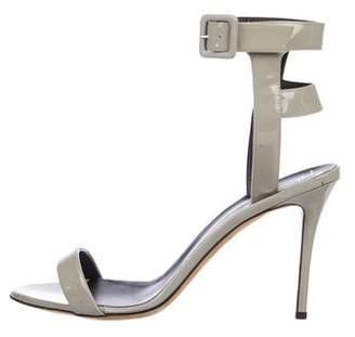 Giuseppe Zanotti Patent Ankle-Strap Sandals