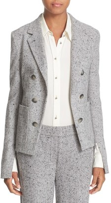 Women's Theory 'Jontia K Parkdale' Double Breasted Cutaway Front Suit Jacket $425 thestylecure.com